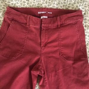 Old Navy Pants - Red capris